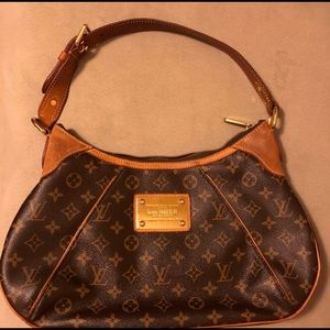 Louis Vuitton Thames Handbag Brown Leather Bag